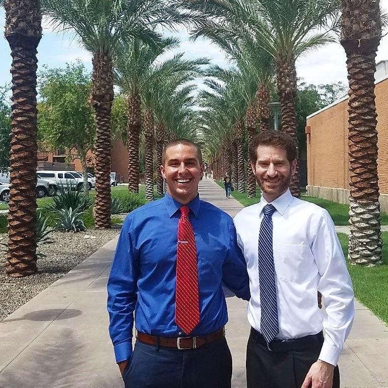 Lukas Wenrick and Jed Greenberg on Palm Walk